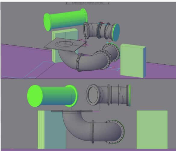 3D pipework design generated from point cloud data