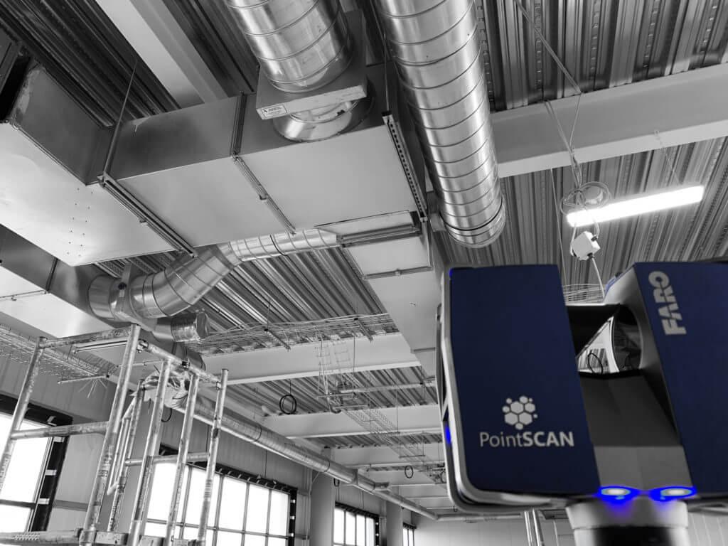 Measured building survey by PointSCAN 3D laser survey