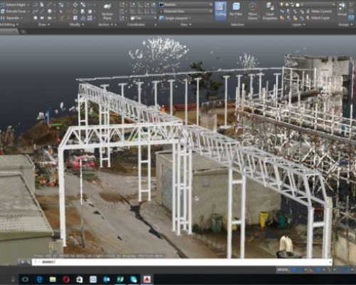Point cloud and autoCAd documentation by PointSCAN 3D laser surveys